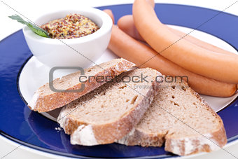 Frankfurters or Wiener sausages
