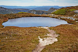 Alpine lake in Cradle Mountain - Lake St. Clair National Park, T