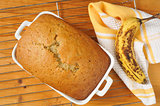 Fresh baked banana nut bread