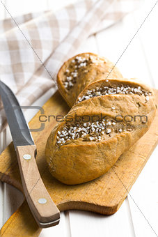 bread on cutting board
