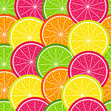 Seamless citrus colorful pattern