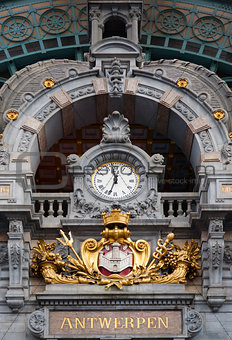 Antwerp Central clock