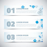 Abstract business infographic vector option banners
