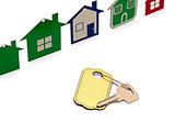 model house symbol set and key with blank label