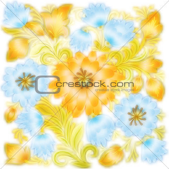 abstract floral ornament on a white
