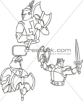 Set of knights with pole-axes