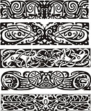 Animalistic knot designs in celtic style