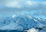 Winter mountain landscape (Slovakia, High Tatras).