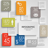 Abstract rectangles colorful infographic template
