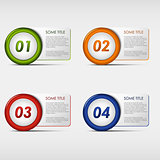 Colorful set progress round icons