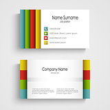 Modern light business card template