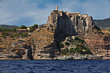 Capraia island castle and fortification