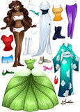 African American Girl Princess Dress Up