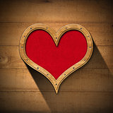 Wooden Heart on Wood Wall