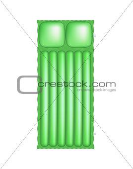 Air mattress in light green design