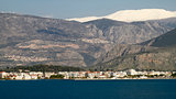 Itea Town and Parnassos Mountain, Greece
