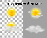 Transparent weather icons