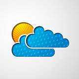 icon of clouds and sun