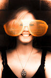 Woman With Funny Sunglasses