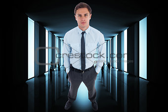 Composite image of handsome businessman