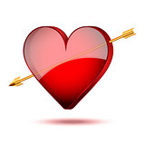 Background symbol beautiful red heart
