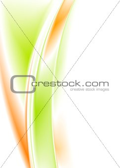 Bright smooth vector waves background