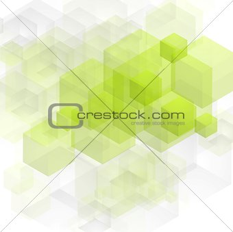 Bright green tech vector design