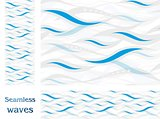 Wavy vector seamless pattern design