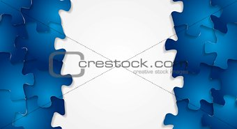 Bright technology puzzle vector background