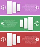 Bright infographic vector tech banners