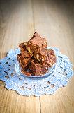 Fudge with walnuts
