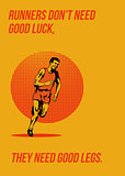 Runner Running Marathon Poster
