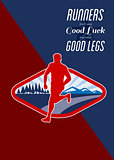 Cross Country Runner Retro Poster