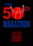 50th Marathon Race Poster