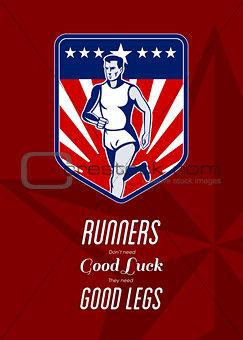 American Marathon Runner Good Legs Poster