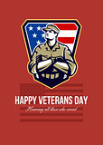 American Soldier Veterans Day Greeting Card