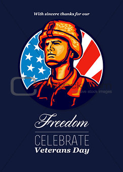 American Veteran Serviceman Greeting Card