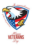 Happy Veterans Day American Eagle Greeting Card