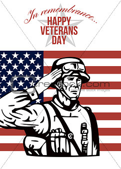 American Veterans Day Greeting Card