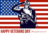 US Veterans Day Remembrance Greeting Card