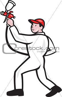 Painter Spray Paint Gun Side Cartoon
