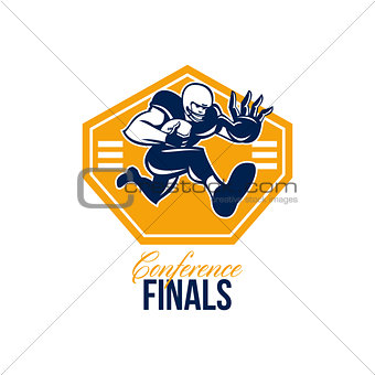 American Football Conference Finals Shield Retro