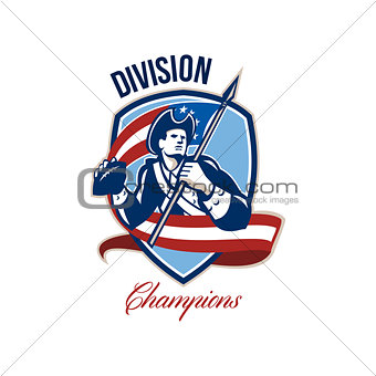 American Football Division Champions Shield Retro