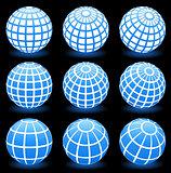 globe wire frame symbols