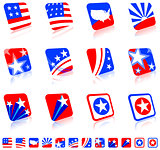 patriotic icon set