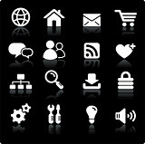 internet design icon set
