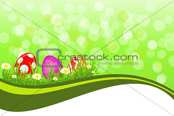 Greeting Easter background