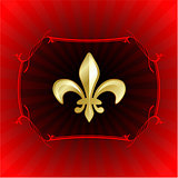 fleur de lis on red internet background