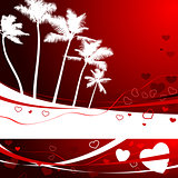 romantic tropical background for valentine's day