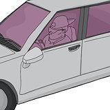 Undercover Cop in Car